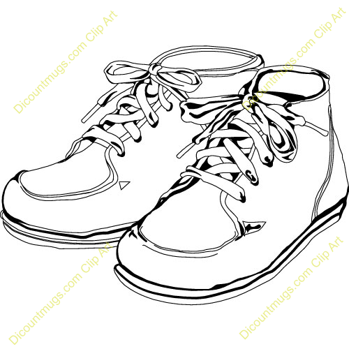 8714 Shoes free clipart.