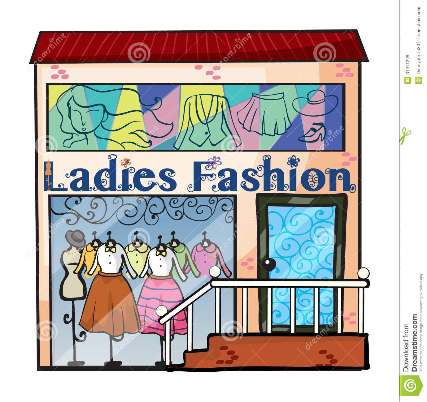 Dress Shop Clipart.