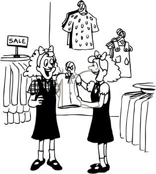 Twin dress clipart.