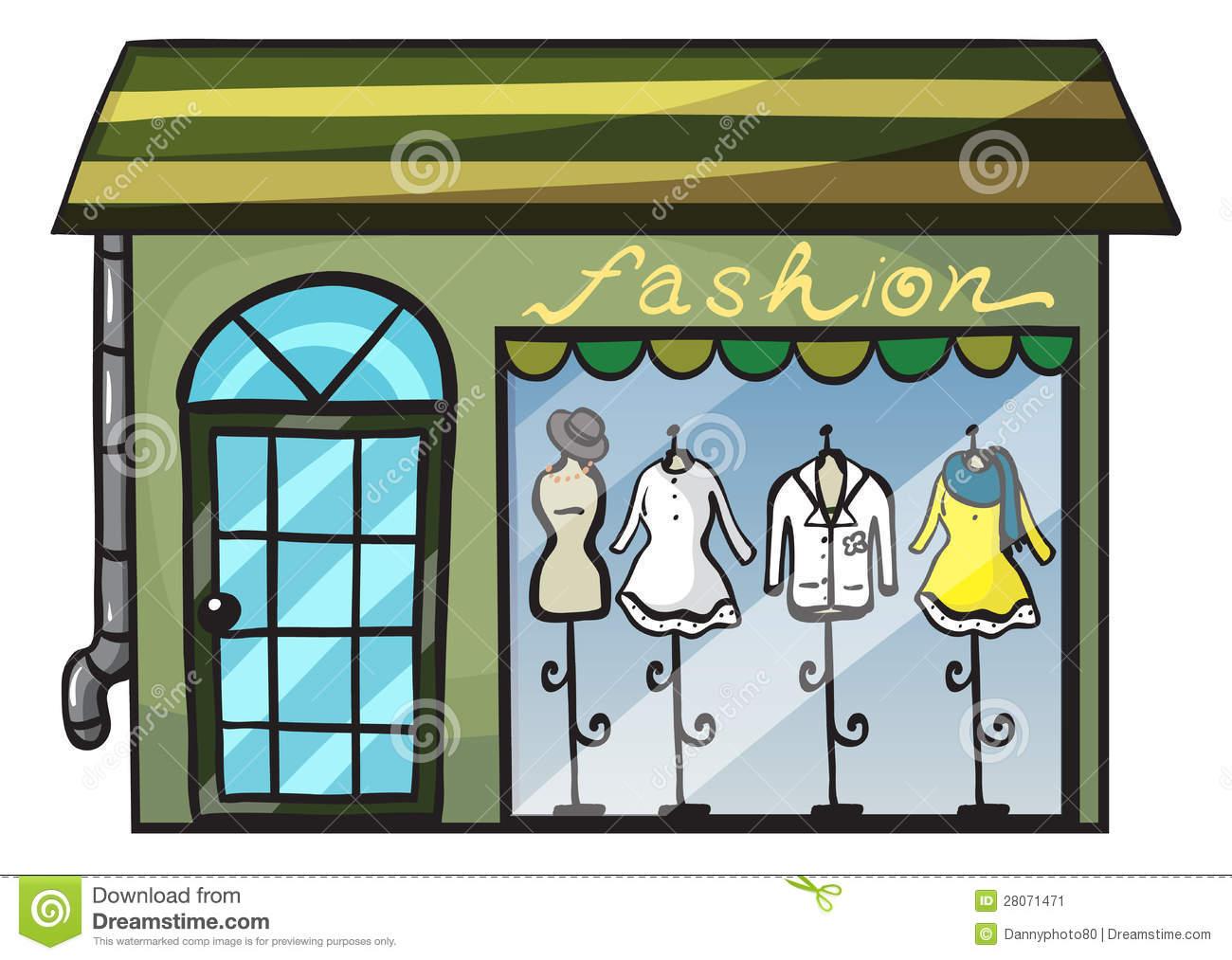 Dress store clipart.