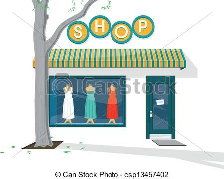 Vector Clipart of Shop Exterior.
