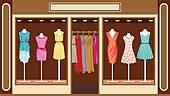 Dress shop Clipart Royalty Free. 6,260 dress shop clip art vector.
