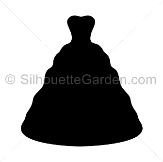 Wedding dress silhouette clip art. Download free versions of the.