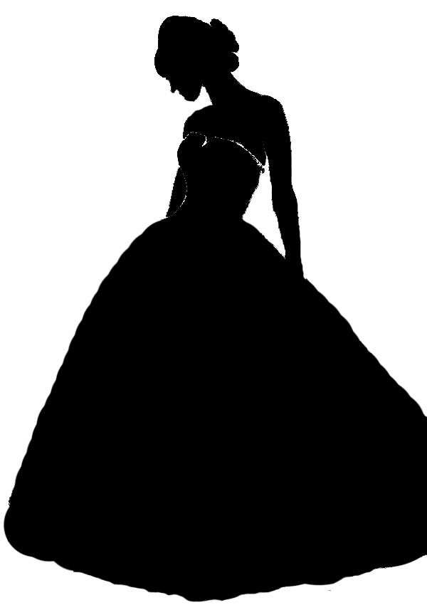 wedding dress silhouette.