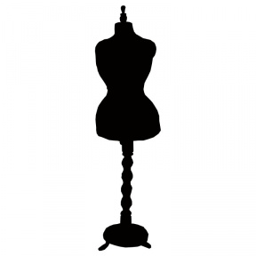 Silhouette Woman In Dress Clipart.