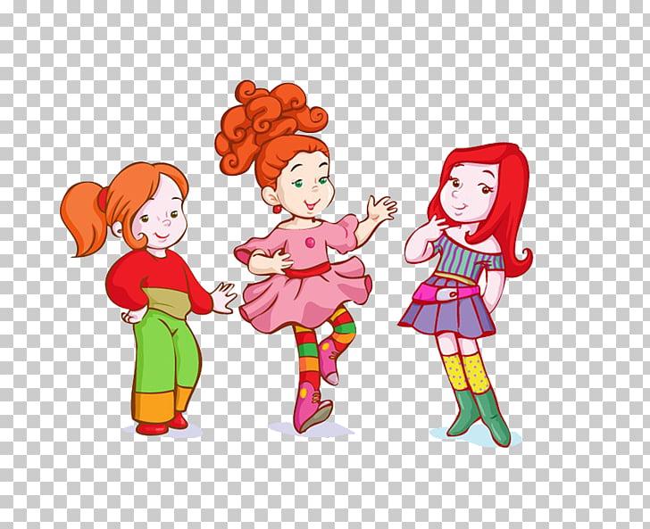 Cartoon Child , Cartoon Girl Dress Up PNG clipart.