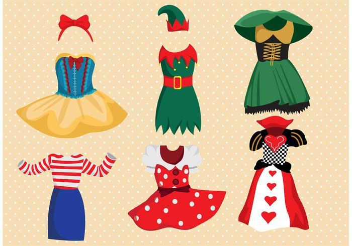 Fancy Dress Costume Vector Pack.