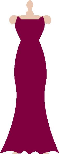 Strapless Dress Clipart.