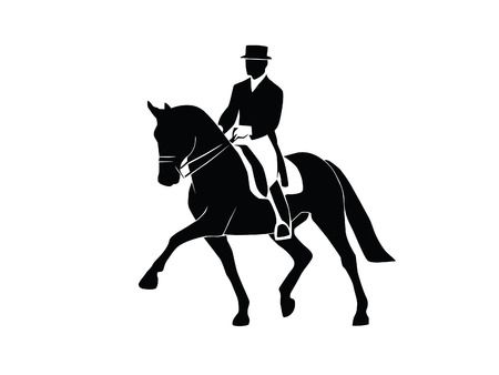2,228 Dressage Horse Cliparts, Stock Vector And Royalty Free.