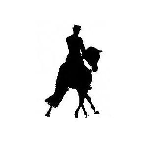 Dressage Horse Silhouette Clipart.