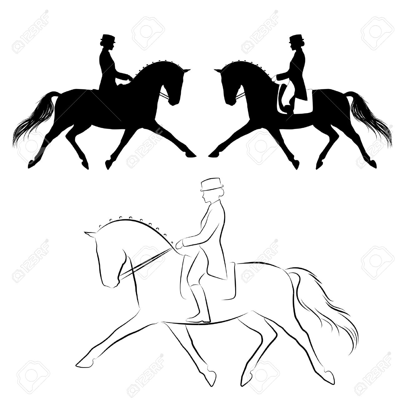 4,290 Dressage Stock Vector Illustration And Royalty Free Dressage.
