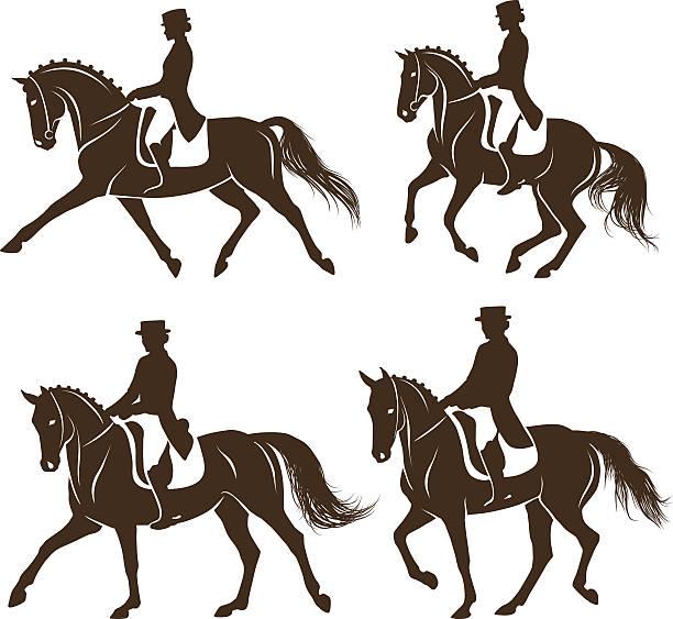 Best Dressage Horse Illustrations, Royalty.