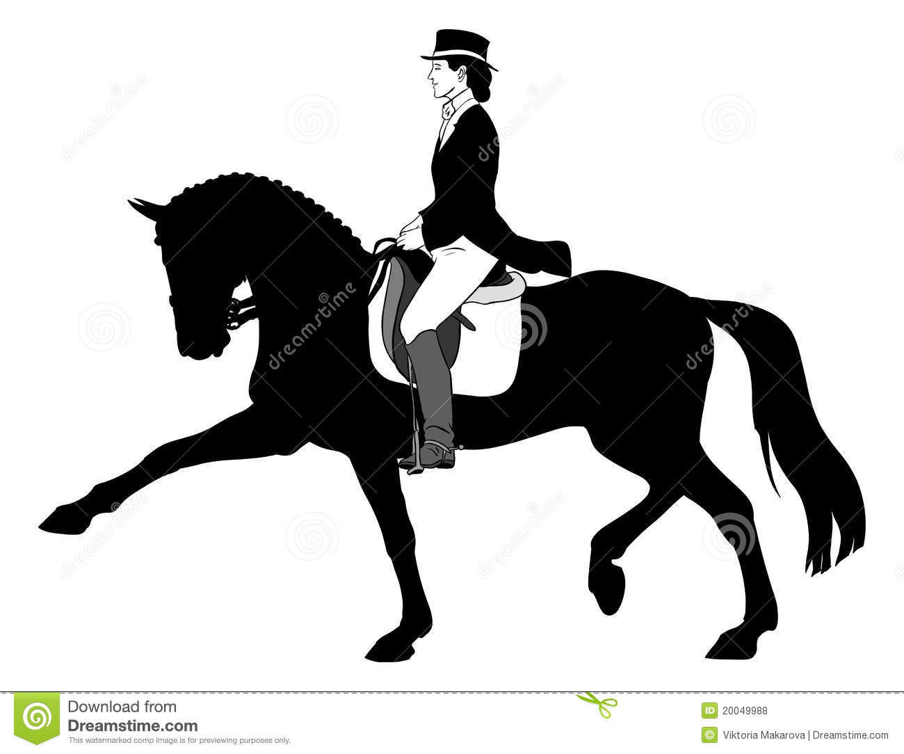 Dressage Stock Illustrations.