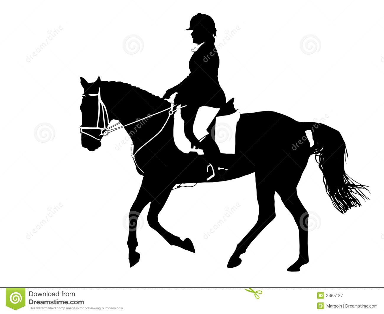 Dressage Horse Clipart.