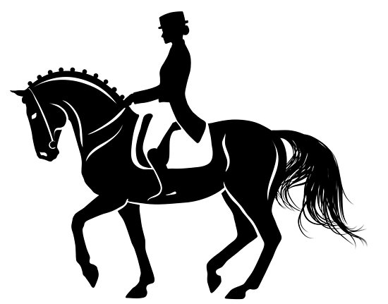 Dressage Horse Silhouette.