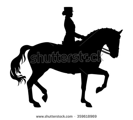 Dressage Horse Silhouette Group with 83+ items.