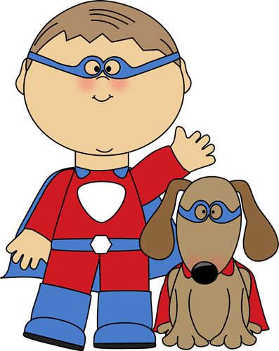 Funny Dogs Dressed Up Clip Art.