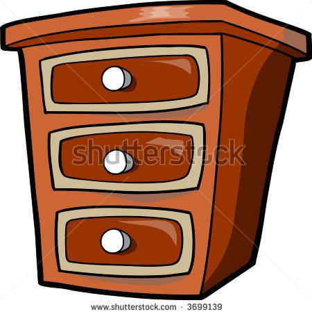 Open Dresser Clipart.