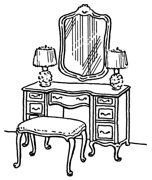 Free Dresser Clipart, 1 page of Public Domain Clip Art.