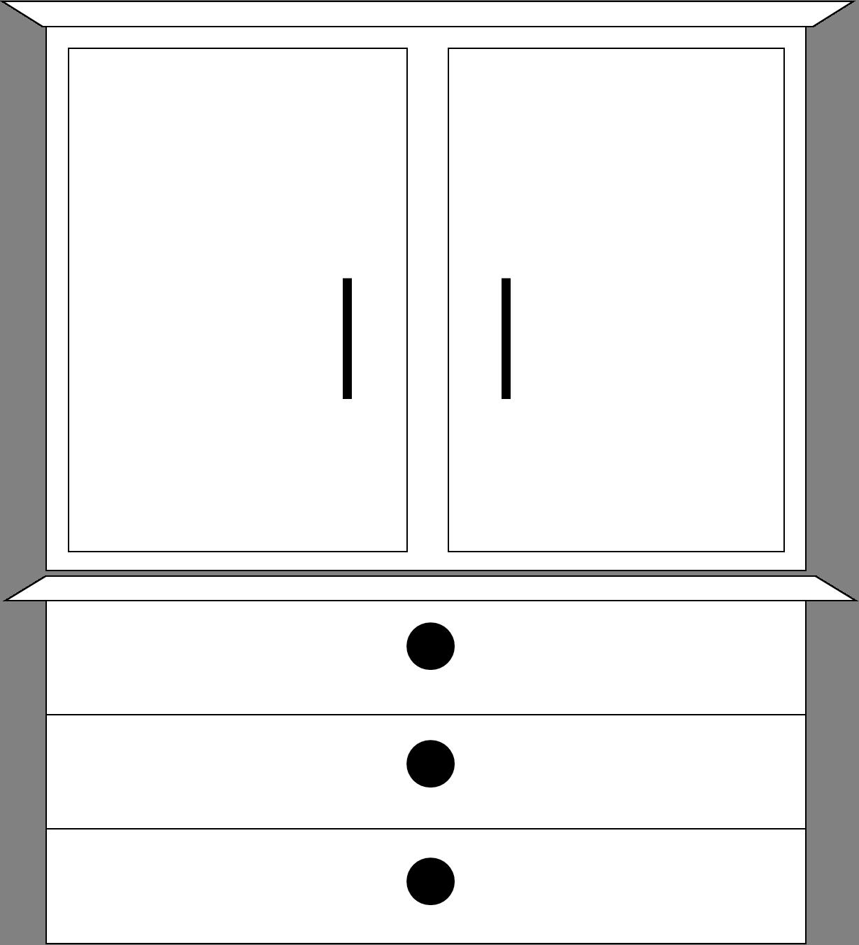 Dresser Clip Art.