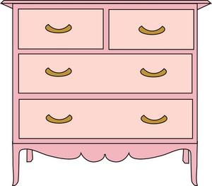 Free clipart dresser.