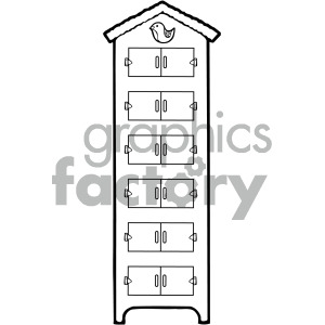 black white dresser with drawers clipart . Royalty.