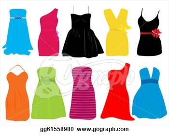 Clipart dresses.