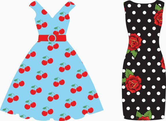 Dresses Clip Art.