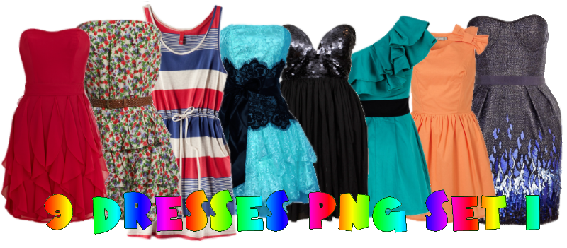 9 Dresses Png SET_1 by JEricaM on DeviantArt.