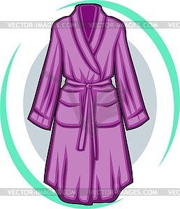 Dressing gown clipart.