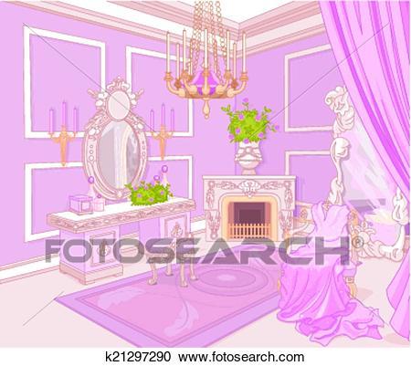 Princess dressing room Clipart.