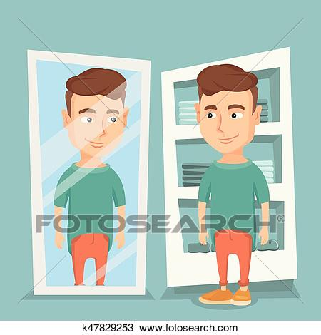 Man trying on t.