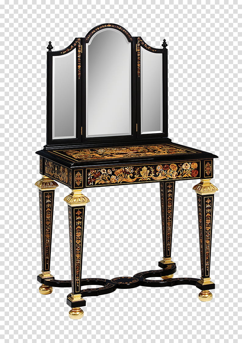 Dressing table, brown wooden vanity table transparent.
