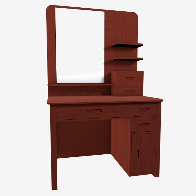 C4d Simulation Physical Dressing Table Furniture Room, C4d, Simultry.