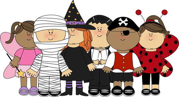 Halloween dress up clipart.