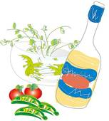 Salad Dressing Clipart.
