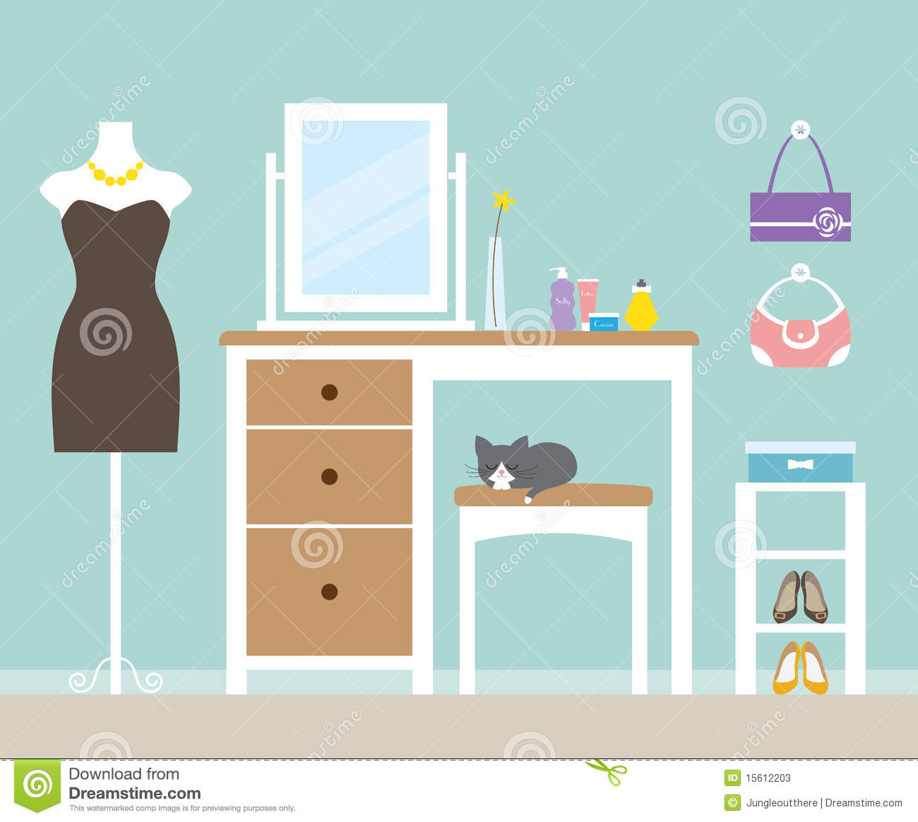 Dressing Area Clipart.