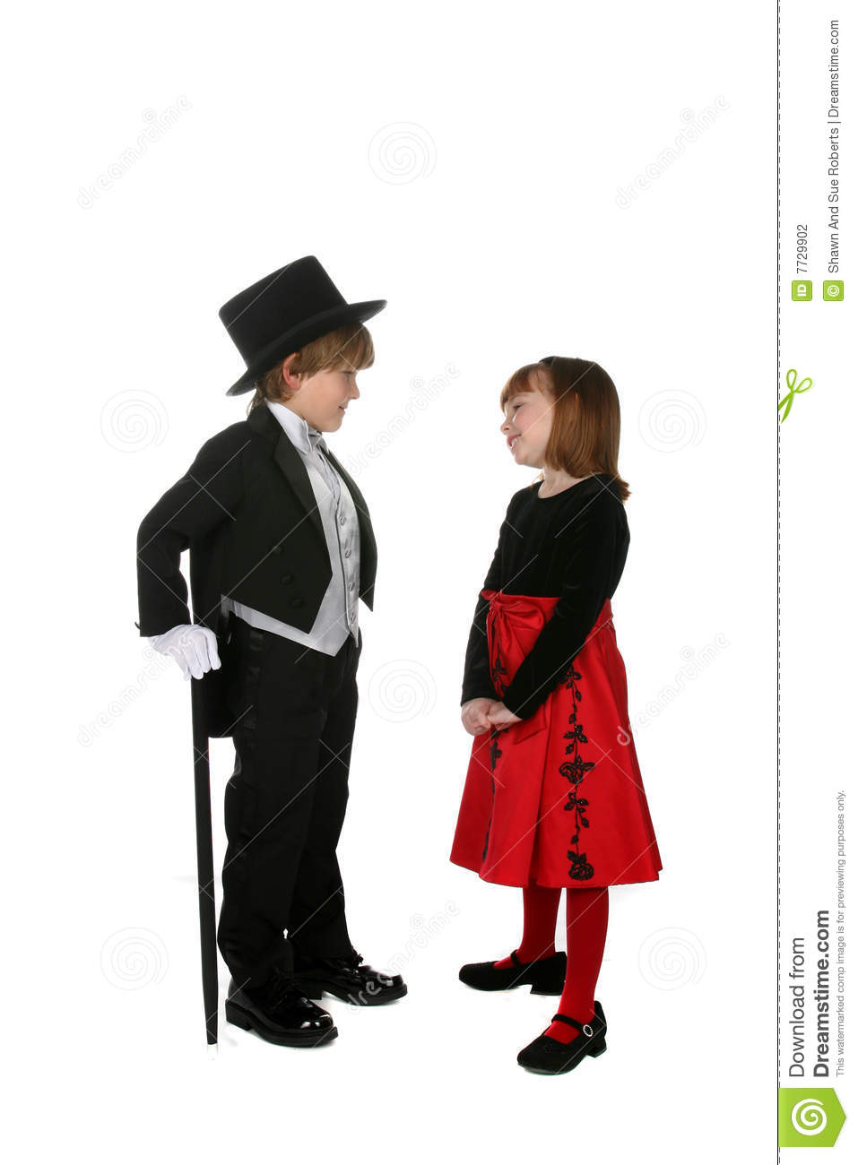 Cute Young Children In Formal Dressy Clothing Stock Photography.