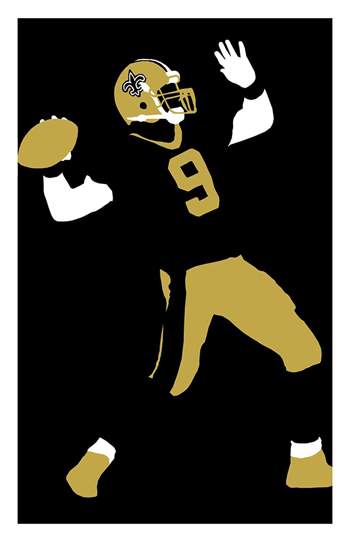 Amazon.com : Drew Brees New Orleans Saints Poster Print Art.