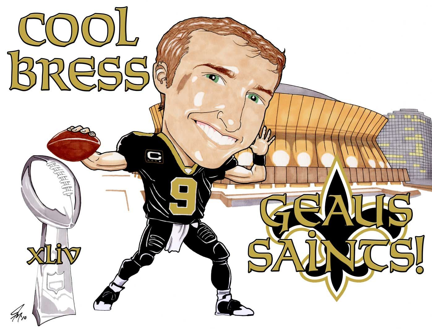 Drew Brees of the New Orleans Saints..