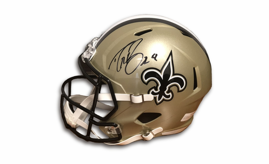 Drew Brees Autographed Helmet.