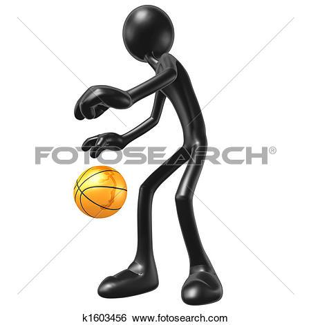 Stock Illustration of Basketball Dribble k1603456.