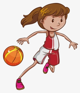 Free Girls Basketball Clip Art with No Background.