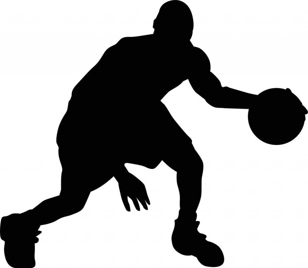 Basketball Player Silhouette Clipart.