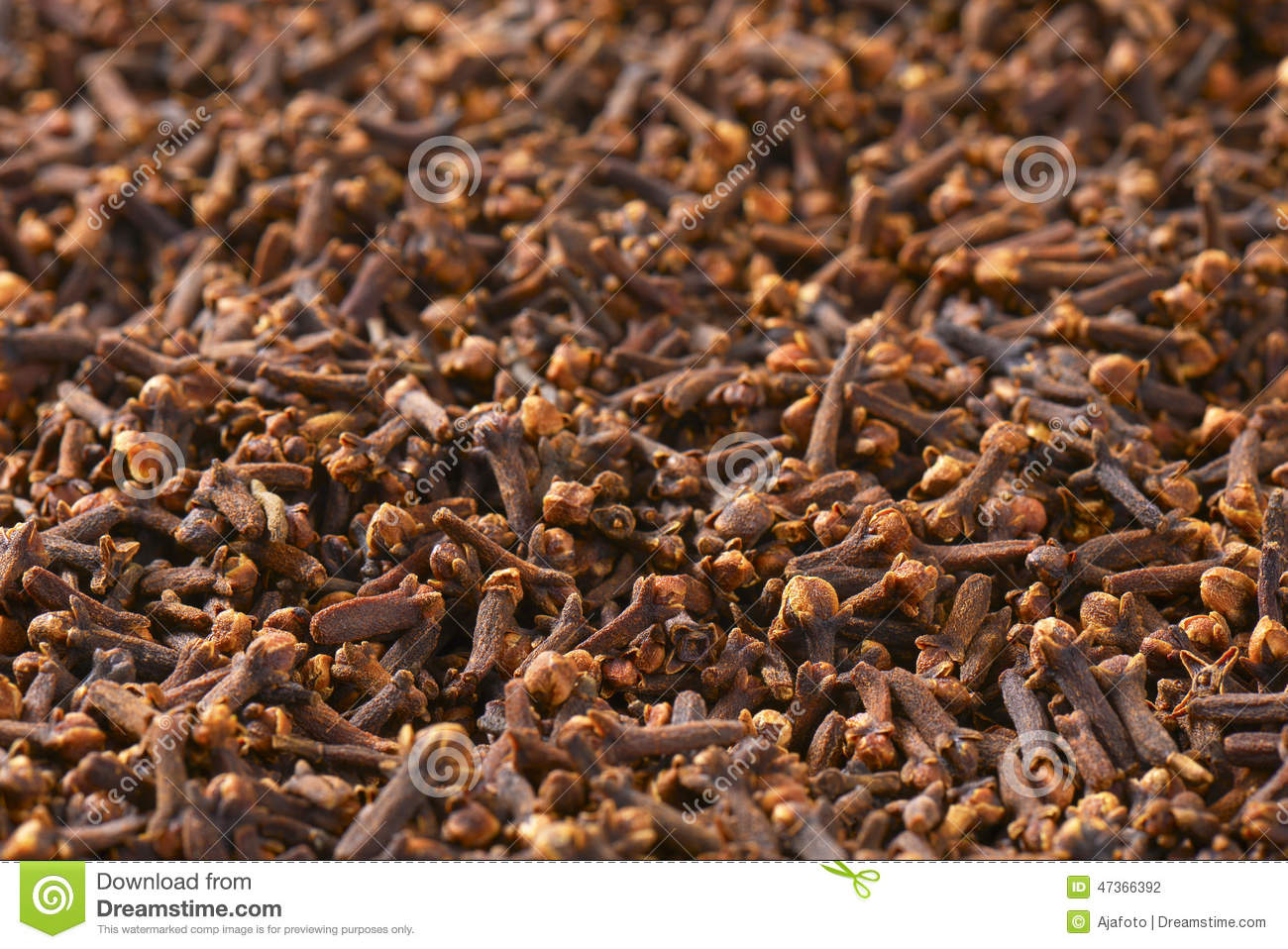 Dried Cloves Stock Photo.
