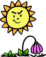 Dry plants clipart.