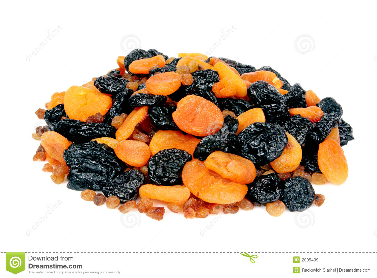 Dietetic Dried Fruits Royalty Free Stock Images.