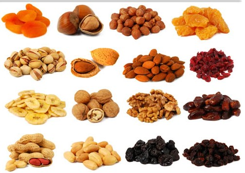 Dried Fruits free vector.