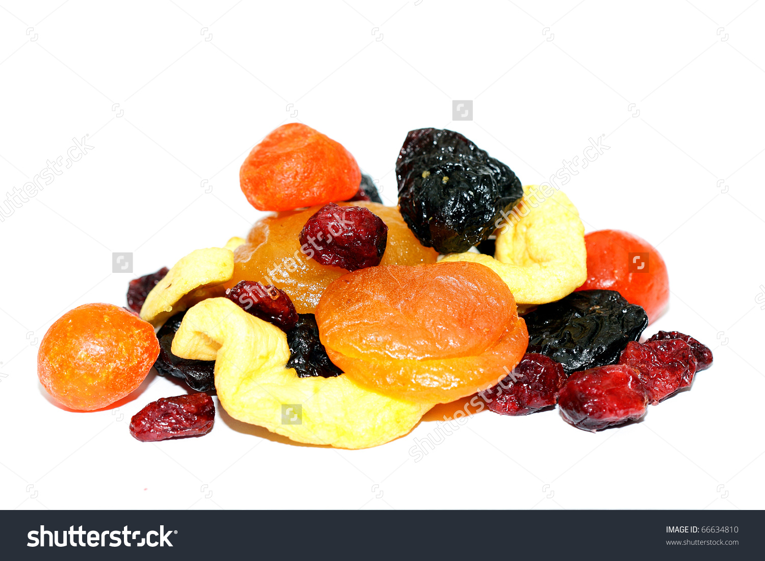 Mixed Dried Fruits Stock Photo 66634810.