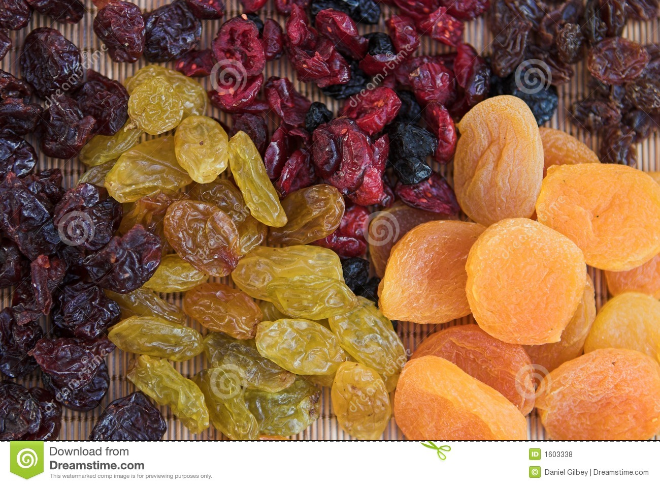 Dried Fruit Selections Royalty Free Stock Photos.